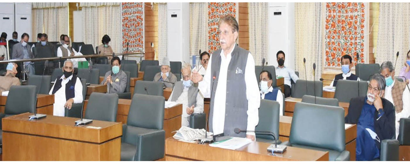 Muzaffarabad: PM AJ&K Raja Muhammad Farooq Haider khan addresses to the floor of the House in a session held on Corona.