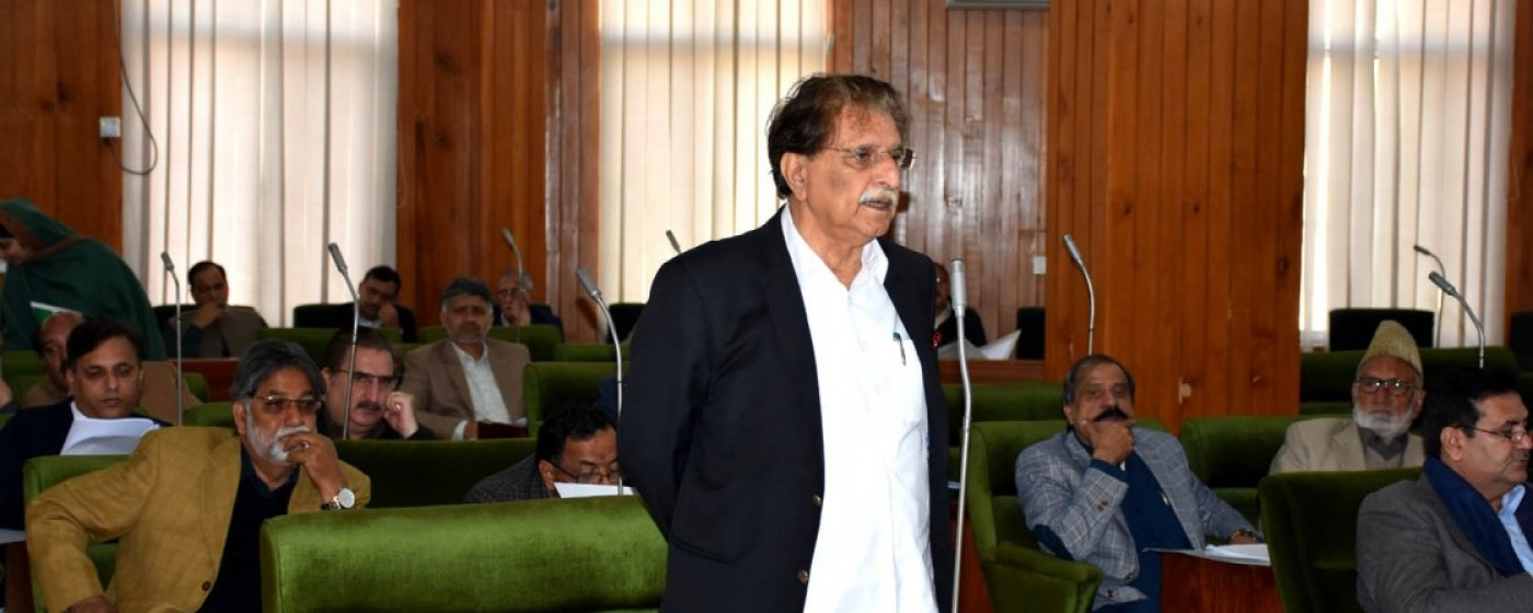 Prime Minister of AJ&K Raja Muhammad Farooq Haider Khan while addressing to assembly floor.