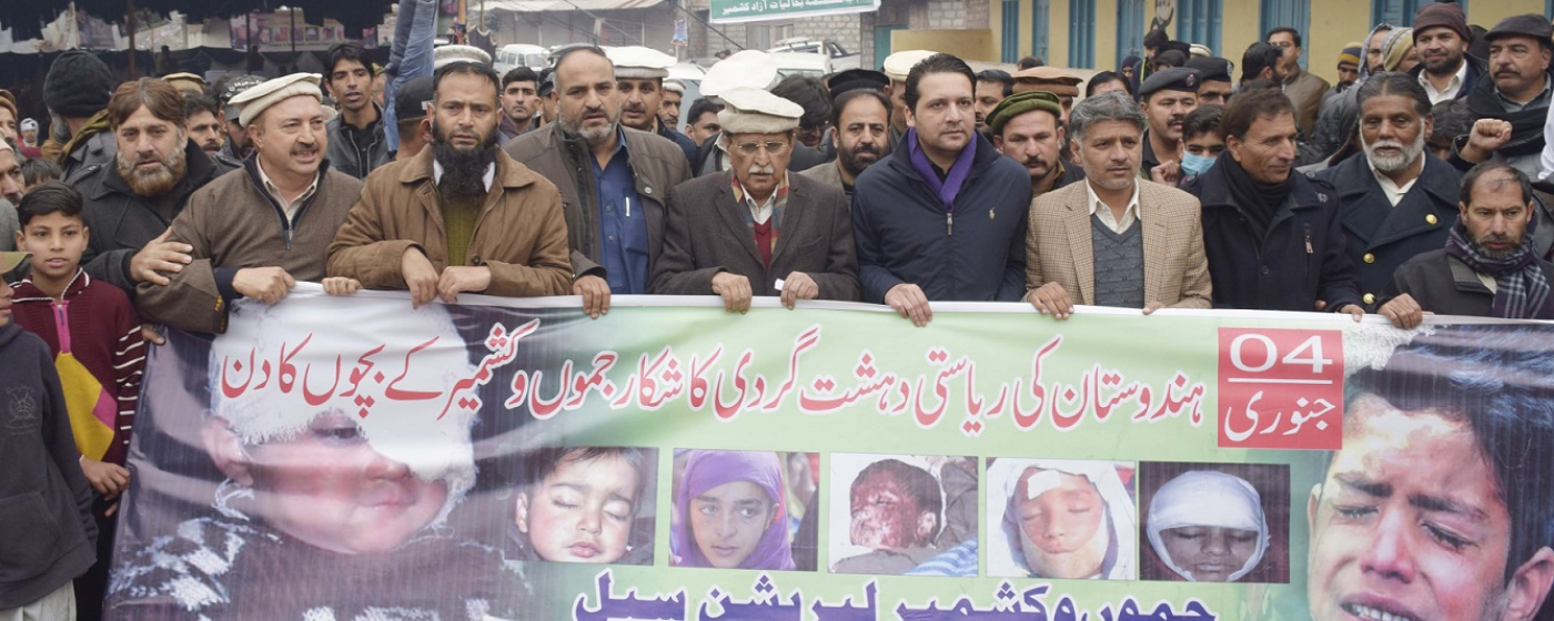 PM AJ&K LEADS A RALLY AGAINST INDIAN ATROCITIES