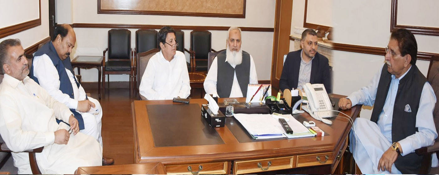 Islamabad: PM AJ&K Raja Muhammad Farooq Haider Khan presides over a session held on rehabilitation of Earthquake affectees Mirpur.