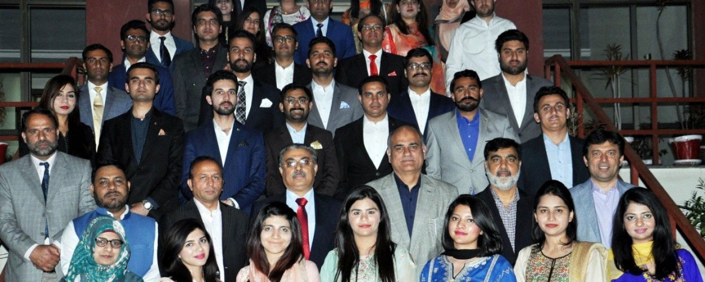 A group photo of the delegation of common training program with chief secretary AJ&K Mathar Niaz Rana at Civil Services Academy.