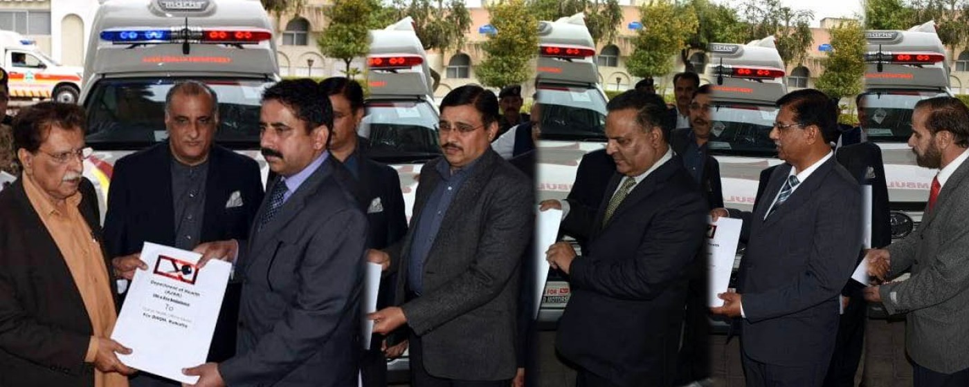 Prime Minister Azad Kashmir has handed over six latest ambulances for line of control